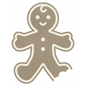 Christmas Day_Sticker Gingerbread Man 2