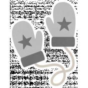 Christmas Day_Sticker Mittens Gray
