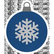 Christmas Day_Sticker Ornament Blue