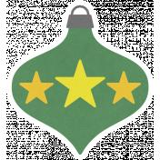 Christmas Day_Sticker Ornament Green