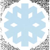 Christmas Day_Sticker Snowflake 1 Blue