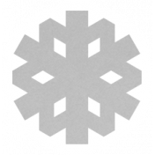 Christmas Day_Sticker Snowflake 1 Gray