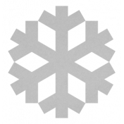 Christmas Day_Sticker Snowflake 2 Gray
