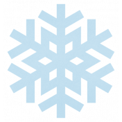 Christmas Day_Sticker Snowflake 3 Blue