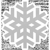 Christmas Day_Sticker Snowflake 3 Gray