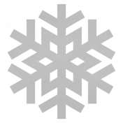 Christmas Day_Sticker Snowflake 3 Gray