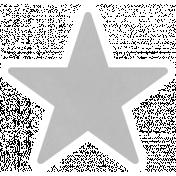 Christmas Day_Sticker Star 2 Gray