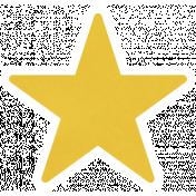 Christmas Day_Sticker Star 2 Yellow Dark