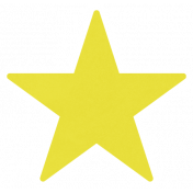 Christmas Day_Sticker Star 3 Yellow Light