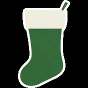 Christmas Day_Sticker Stocking Green