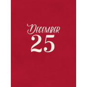 Christmas Day- JC December 25 3x4