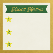 Christmas Day- JC Magical Moments Gold 3x3