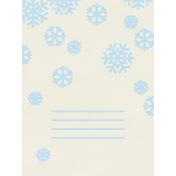 Christmas Day- JC Snowflakes Blue 3x4