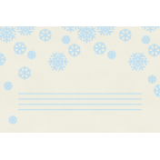 Christmas Day- JC Snowflakes Blue 4x6
