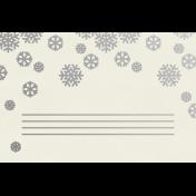 Christmas Day- JC Snowflakes Silver 4x6