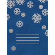 Christmas Day- JC Snowflakes Silver Blue 3x4