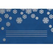 Christmas Day- JC Snowflakes Silver Blue 4x6