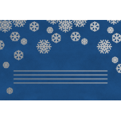 Christmas Day- JC Snowflakes Silver Blue 4x6