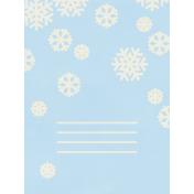 Christmas Day- JC Snowflakes White 3x4