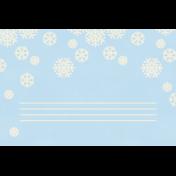 Christmas Day- JC Snowflakes White 4x6