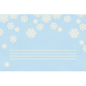 Christmas Day- JC Snowflakes White 4x6