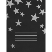 Christmas Day- JC Stars Silver Black 3x4