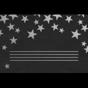 Christmas Day- JC Stars Silver Black 4x6