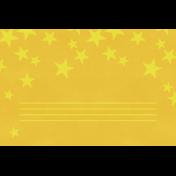 Christmas Day- JC Stars Yellow 4x6