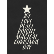 Christmas Day- JC Words Black 3x4