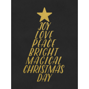 Christmas Day- JC Words Gold Black-3x4