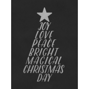Christmas Day- JC Words Silver Black 3x4