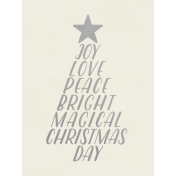 Christmas Day- JC Words Silver White 3x4