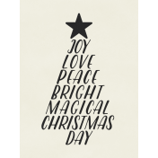 Christmas Day- JC Words White 3x4