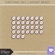 Christmas Day- Advent Brad Heart Silver