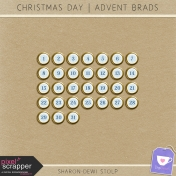 Christmas Day- Advent Brad Snowflake Gold