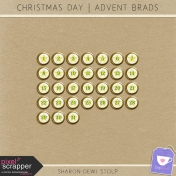 Christmas Day- Advent Brad Star Gold