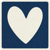 Picnic Day_Pictogram Chip_Dark Blue_Heart