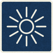 Picnic Day_Pictogram Chip_Blue Dark_Sun