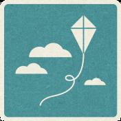 Picnic Day_Pictogram Chip_Blue_Kite