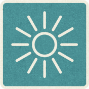 Picnic Day_Pictogram Chip_Blue_Sun