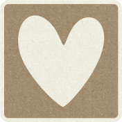 Picnic Day_Pictogram Chip_Brown_Heart
