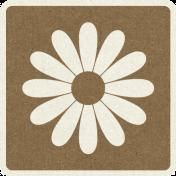 Picnic Day_Pictogram Chip_Brown Dark_Flower