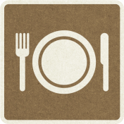 Picnic Day_Pictogram Chip_Brown Dark_Plate