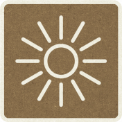 Picnic Day_Pictogram Chip_Brown Dark_Sun