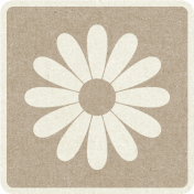 Picnic Day_Pictogram Chip_Brown Light_Flower