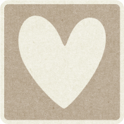 Picnic Day_Pictogram Chip_Brown Light_Heart