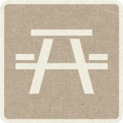 Picnic Day_Pictogram Chip_Brown Light_Picnic Table