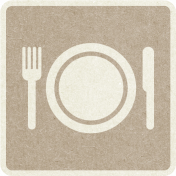 Picnic Day_Pictogram Chip_Brown Light_Plate