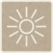 Picnic Day_Pictogram Chip_Brown Light_Sun