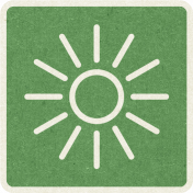Picnic Day_Pictogram Chip_Green_Sun